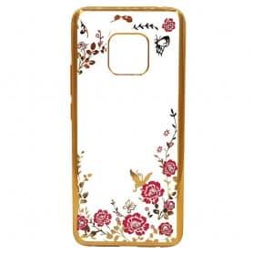 Flower bling Silikonskal Huawei Mate 20 Pro (LYA-L29) mobilskal