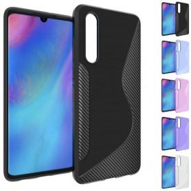 S Line silikon skal Huawei P30 mobilskal skydd caseonline fodral