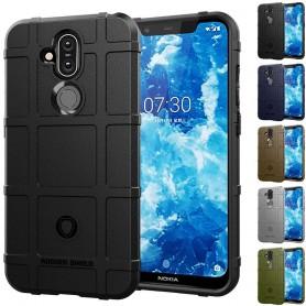 Mobilskal Rugged Shield skal Nokia 8.1 (TA-1128) skydd caseonline