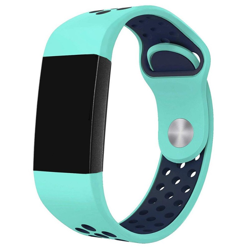 Fitbit Charge 3 EBN Sport Armband - Mint/blå