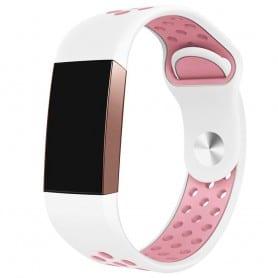 Fitbit Charge 3 EBN Sport Armband - Vit/rosa