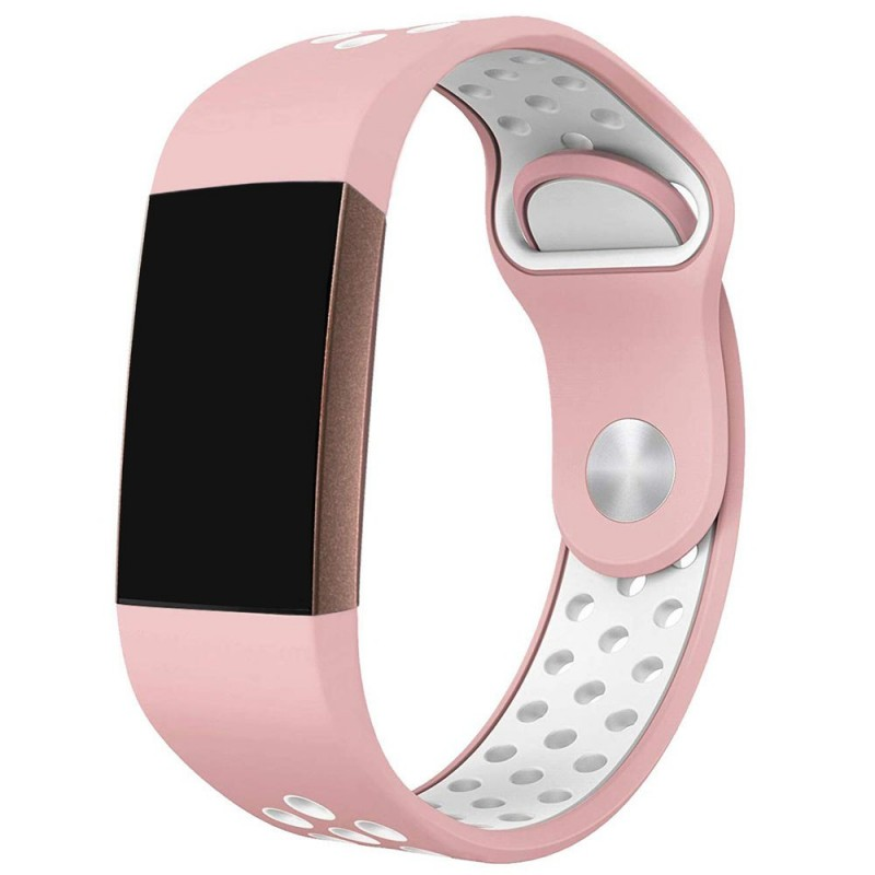 Fitbit Charge 3 EBN Sport Armband - Rosa/vit