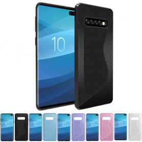 S Line silikon skal Samsung Galaxy S10 Plus (SM-G975F)