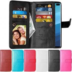 Dubbelflip Flexi 9-kort Samsung Galaxy S10 Plus (SM-G975F) mobilplånbok mobilskal fodral väska caseonline