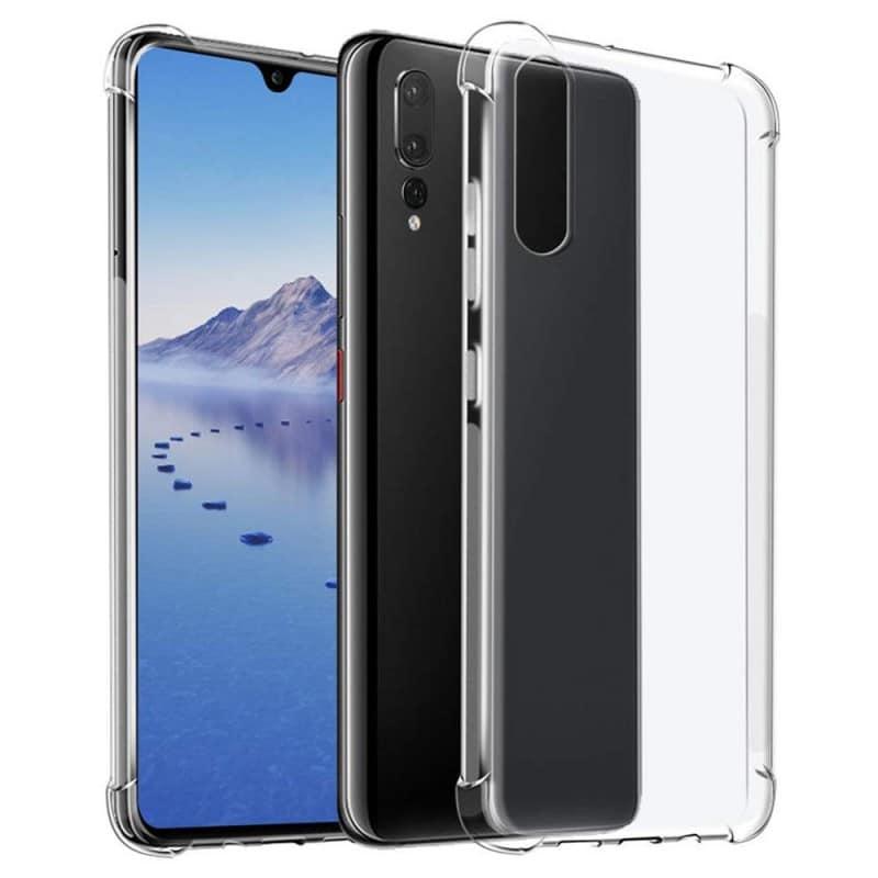 Shockproof silikon skal Huawei P30 Lite (MAR-LX1) mobilskal tpu transparent caseonline