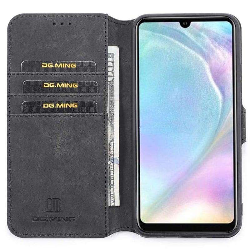 DG-Ming mobilplånbok 3-kort Huawei P30 Lite (MAR-LX1) mobilskal caseonline fodral