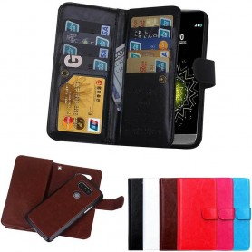 Mobilplånbok Dubbelflip Magnet 2i1 LG G5 9-kort mobilskal caseonline