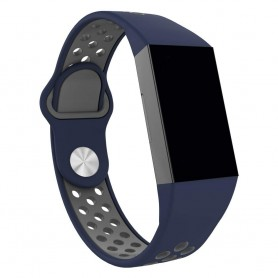 Fitbit Charge 3 EBN Sport Armband - Blå/grå