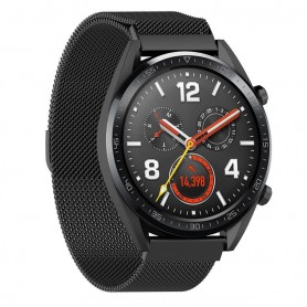 Svart Milanese Rostfritt stål Huawei Watch GT/Magic/TicWatch Pro - Svart