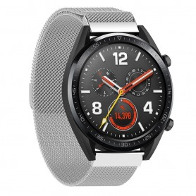 Milanese RSF stål Huawei Watch GT/Magic/TicWatch Pro - Silver
