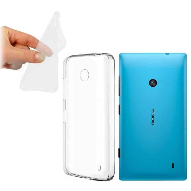 Nokia Lumia 520 silikon skal transparent 2ff84cc65b3bd