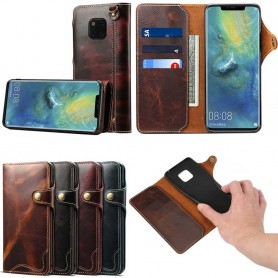Mobilplånbok 3-kort äkta läder Huawei Mate 20 Pro (LYA-L29)