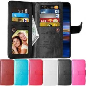 Mobilplånbok Dubbelflip Flexi 9-kort Sony Xperia 1 (I8134) multiplånbok fodral väska mobilskal
