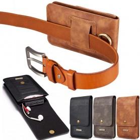 """Universal Mobilväska DG Ming 5.2"""" bältesväska fodral mobilskal skinn läder caseonline"""