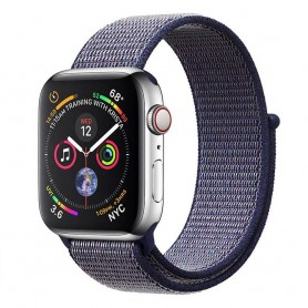 Apple Watch 4 (44mm) Nylon Armband - Midnight blue