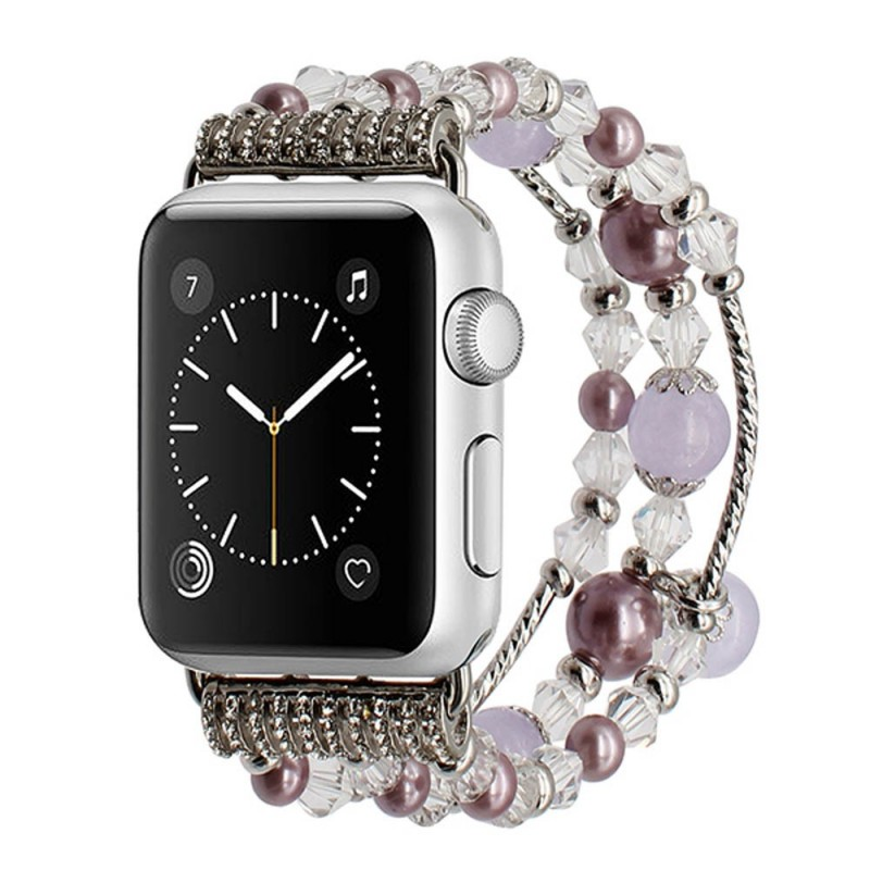 Apple Watch 38mm Crystal Agate - Silver armband caseonline