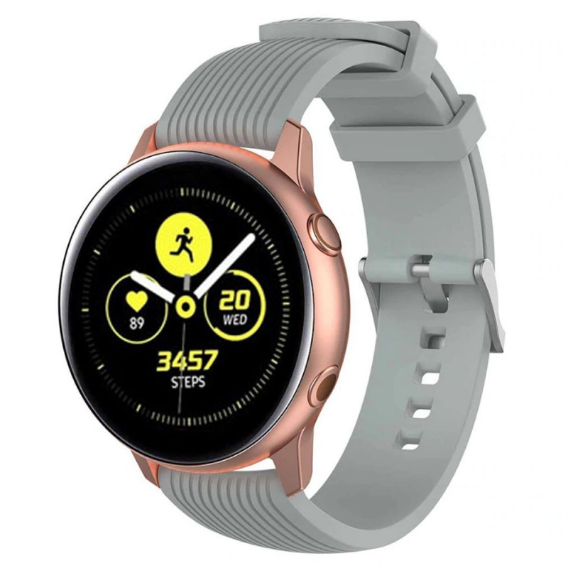 Sport Armband RIB Samsung Galaxy Watch Active - Grå