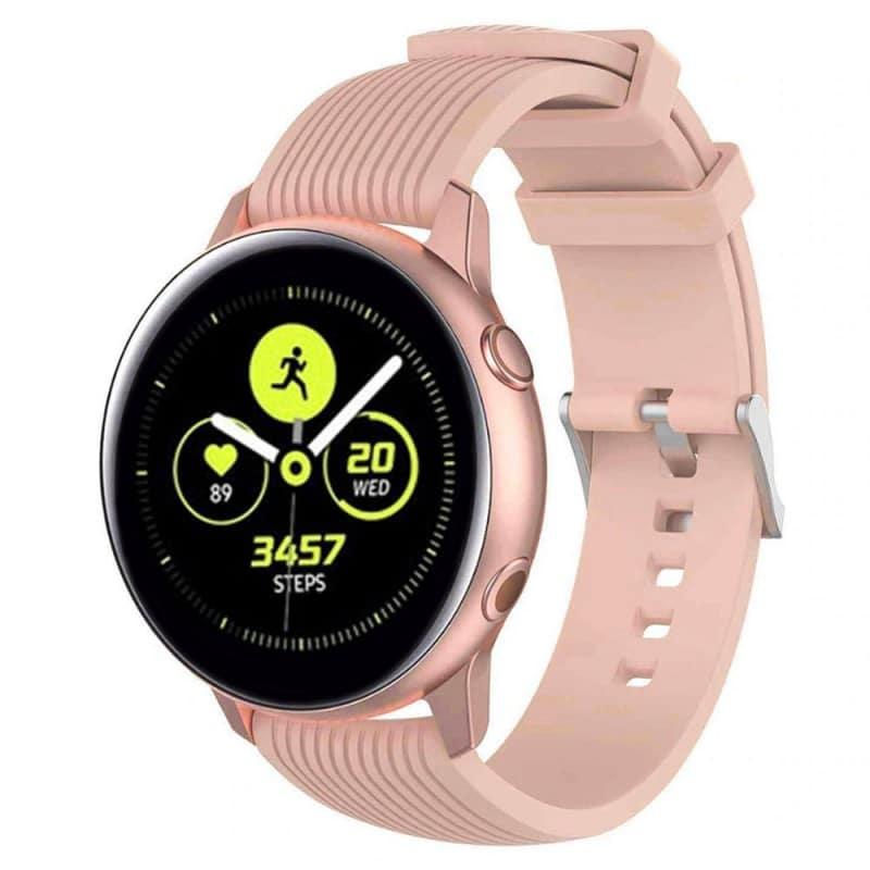 Sport Armband RIB Samsung Galaxy Watch Active - Ljusrosa