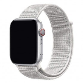 Apple Watch 42mm Nylon Armband - Summit White