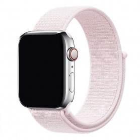 Apple Watch 42mm Nylon Armband - Pearl Pink