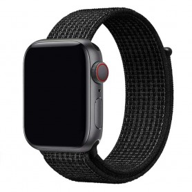 Apple Watch 42mm Nylon Armband - Black White