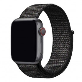 Apple Watch 42mm Nylon Armband - Black Pink