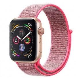 Apple Watch 4 (44mm) Nylon Armband - Hot Pink