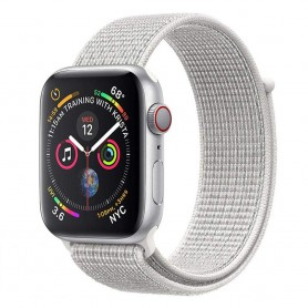 Apple Watch 4 (44mm) Nylon Armband - Summit White
