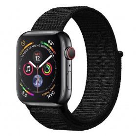 Apple Watch 4 (44mm) Nylon Armband Dark Black CaseOnline.se-smartwatch