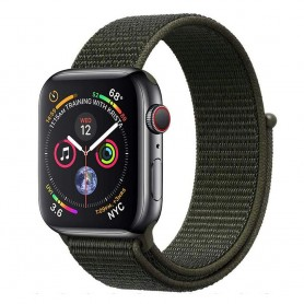 Apple Watch 4 (44mm) Nylon Armband - Cargo Khaki