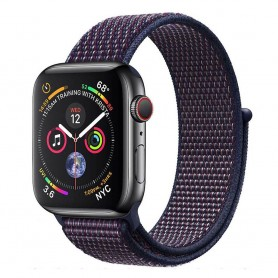Apple Watch 4 (44mm) Nylon Armband - Indigo