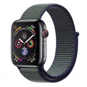 Apple Watch 4 (44mm) Nylon Armband - Midnight Fog