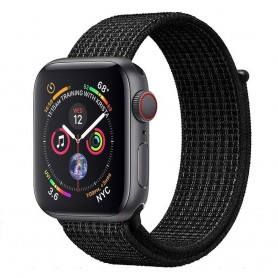 Apple Watch 4 (44mm) Nylon Armband - Black White