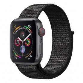 Apple Watch 4 (44mm) Nylon Armband - Black Pink
