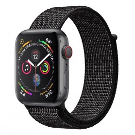 Apple Watch 4 (44mm) Nylon Armband - Black Nike