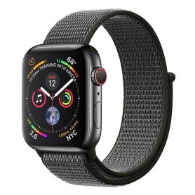 Apple Watch 4 (44mm) Nylon Armband - Dark Olive