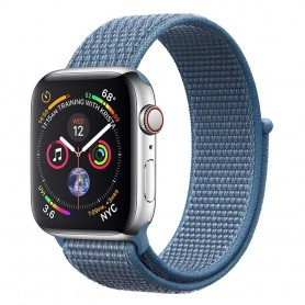 Apple Watch 4 (44mm) Nylon Armband - Cap Cod Blue