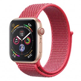 Apple Watch 4 (44mm) Nylon Armband - Hibiscus