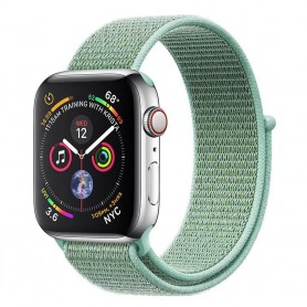 Apple Watch 4 (44mm) Nylon Armband - Marine Green