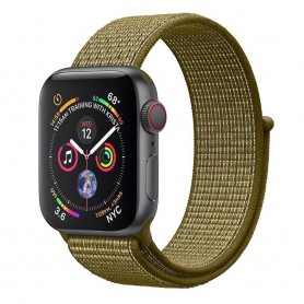 Apple Watch 4 (44mm) Nylon Armband - Olive Flak