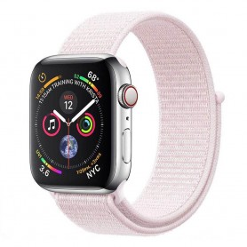 Apple Watch 4 (44mm) Nylon Armband - Pearl Pink