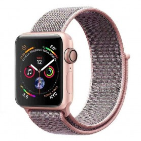 Apple Watch 4 (44mm) Nylon Armband - Pink Sand