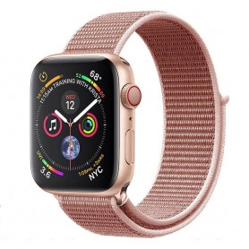 Apple Watch 4 (44mm) Nylon Armband - Rose Pink