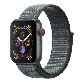 Apple Watch 4 (44mm) Nylon Armband - Storm Grey
