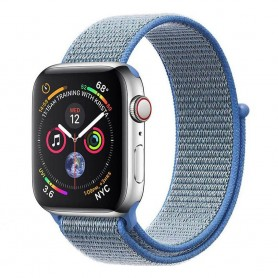 Apple Watch 4 (44mm) Nylon Armband - Tahoe Blue