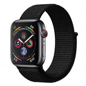 Apple Watch 4 (40mm) Nylon Armband - Dark Black