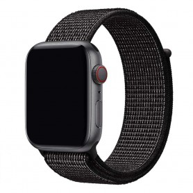 Apple Watch 42mm Nylon Armband - Black Nike