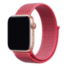 Apple Watch 42mm Nylon Armband - Hibiscus