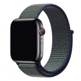 Apple Watch 42mm Nylon Armband - Midnight Fog