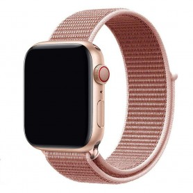 Apple Watch 42mm Nylon Armband - Rose Pink